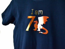 Load image into Gallery viewer, I am age dragon birthday t-shirt, close up