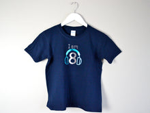 Load image into Gallery viewer, I am age headphones birthday t-shirt