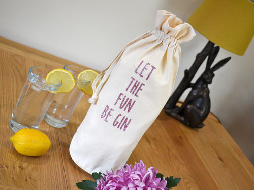 Let The Fun Be Gin Bottle Bag