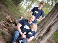 Load image into Gallery viewer, Big, Little and Daddy Bear T-shirts being modelled