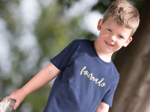 Fournado Slogan 4th Birthday T Shirt, modelled