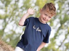 Load image into Gallery viewer, Hi, five slogan 5th birthday t-shirt, modelled