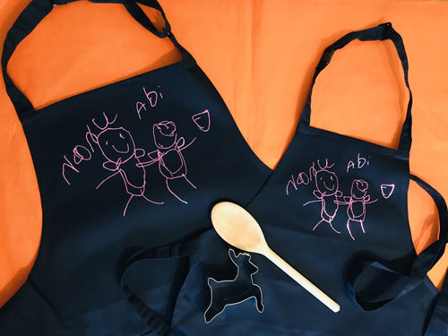 Children's Drawing Child's Apron
