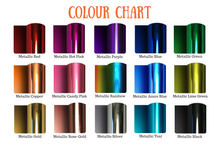 Load image into Gallery viewer, Metallic colour chart