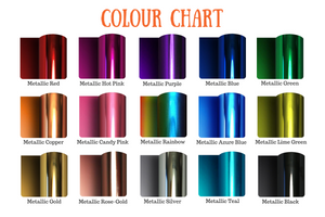 Metallic colour chart