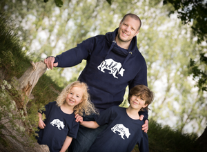 Daddy Bear Hoodie, Sister Bear T-shirt and Brother Bear T-shirt