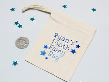 Load image into Gallery viewer, Custom name tooth fairy bag