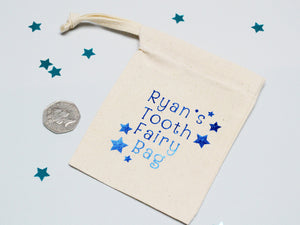 Custom name tooth fairy bag