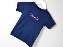 Load image into Gallery viewer, Two Cute Slogan 2nd Birthday T Shirt, tilted image