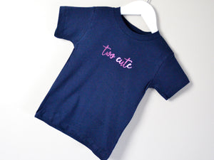 Two Cute Slogan 2nd Birthday T Shirt, tilted image