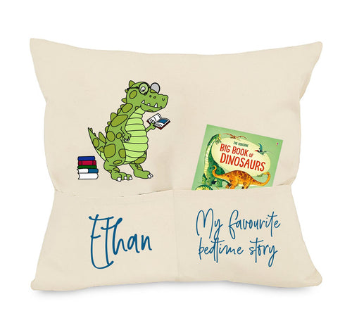 Dinosaur Pocket Cushion