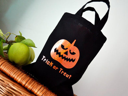 Pumpkin - Black Trick or Treat Mini Tote