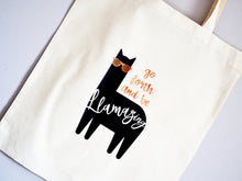 Load image into Gallery viewer, Go Forth and Be Llamazing Tote Bag
