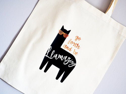 Go Forth and Be Llamazing Tote Bag