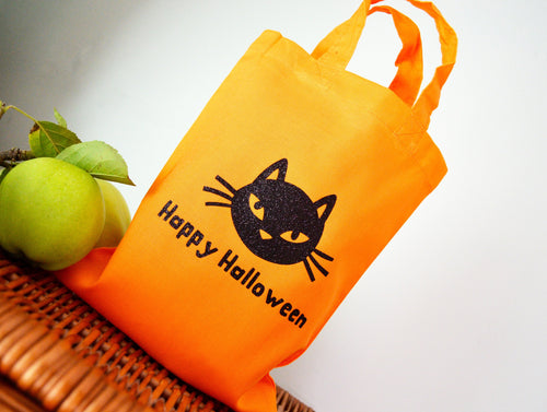 Cat - Orange Trick or Treat Mini Tote