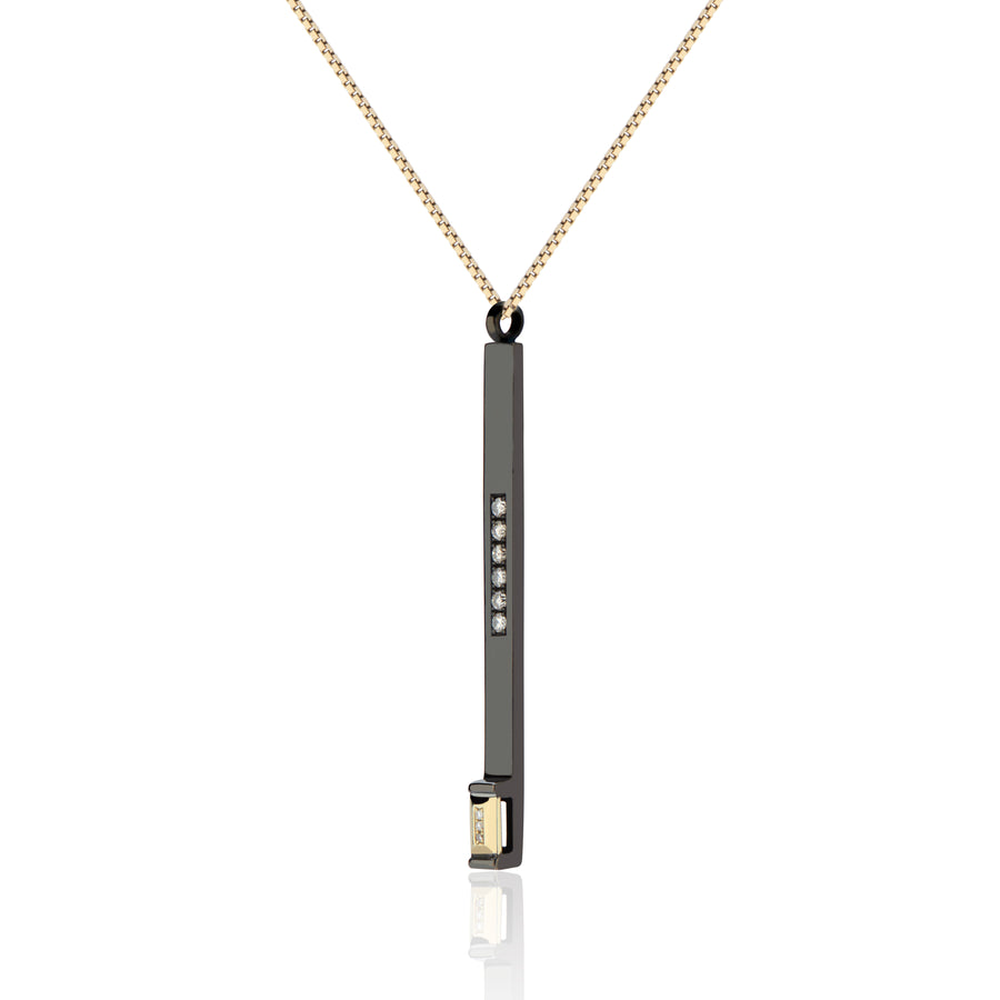 Black Diamond Matchstick Pendant