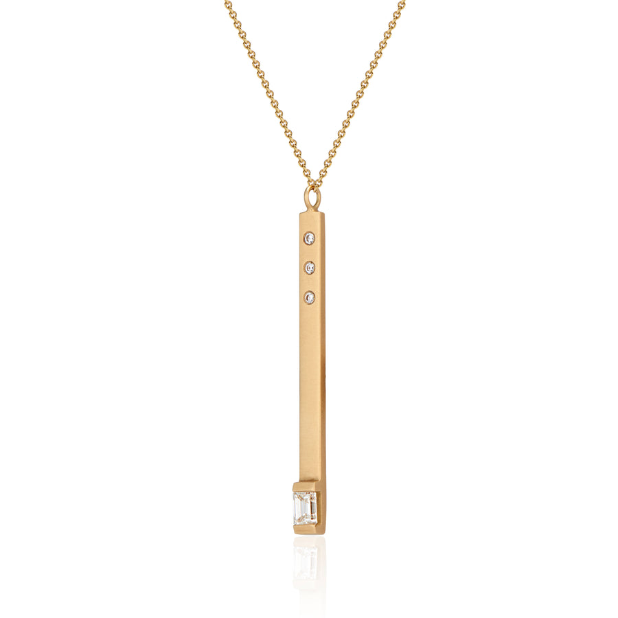 Brilliant Fire Matchstick Pendant