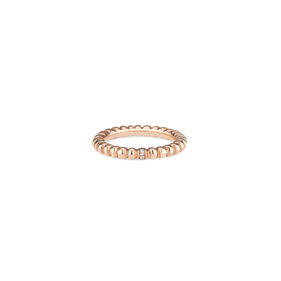 Rose Gold Crown Band with Diamonds