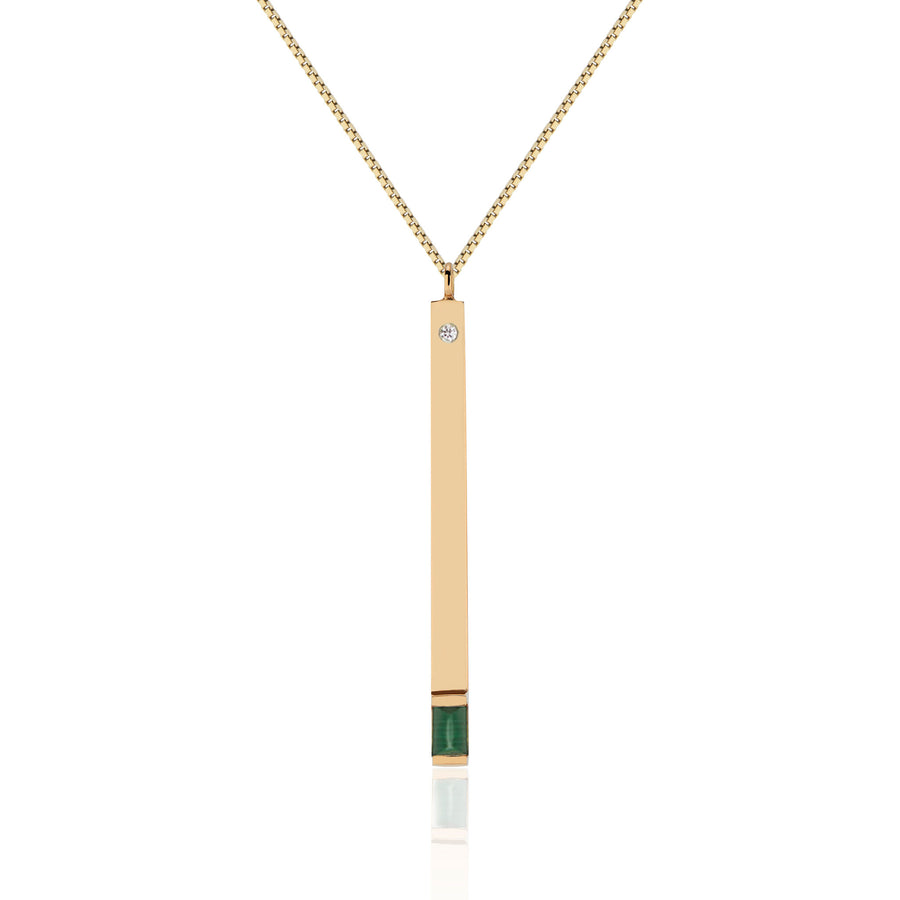Green With Envy Matchstick Pendant