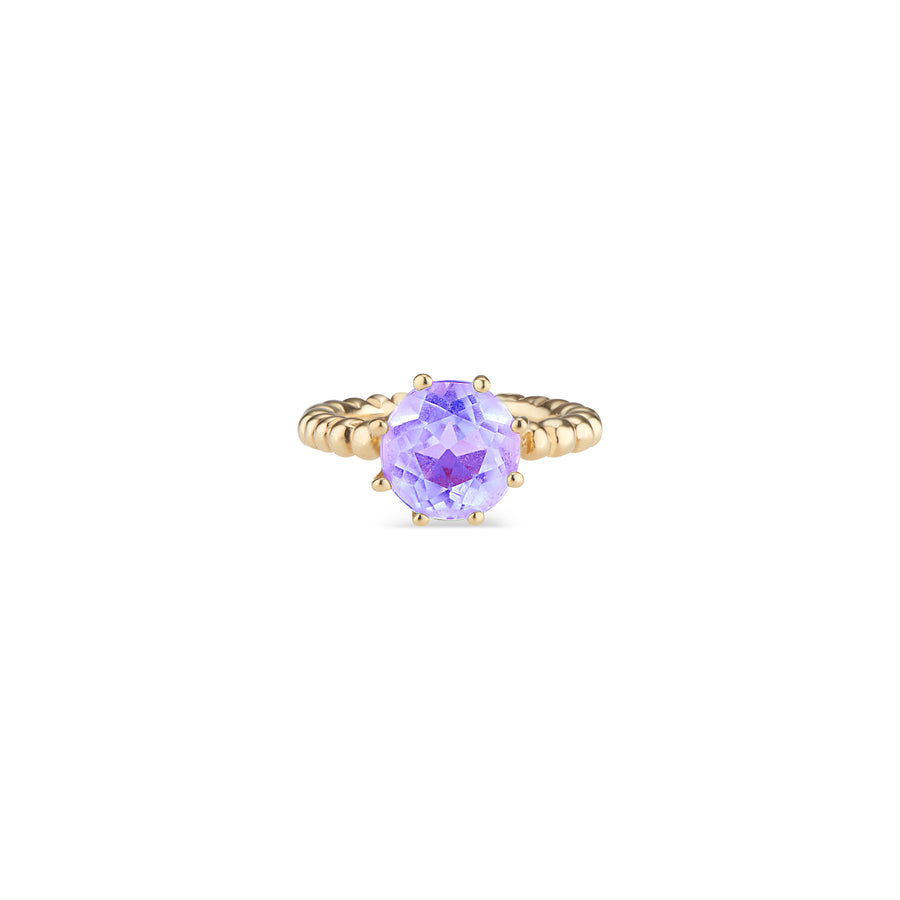 Light Amethyst Crown Ring