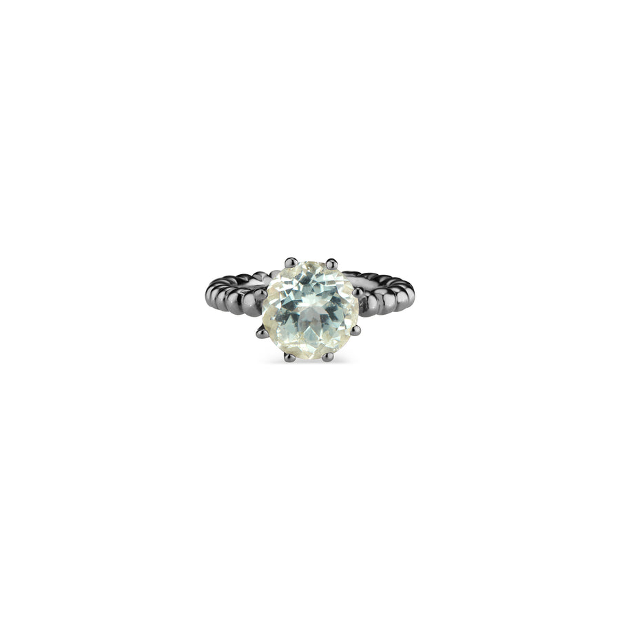 Blue Topaz Crown Ring Sterling Silver