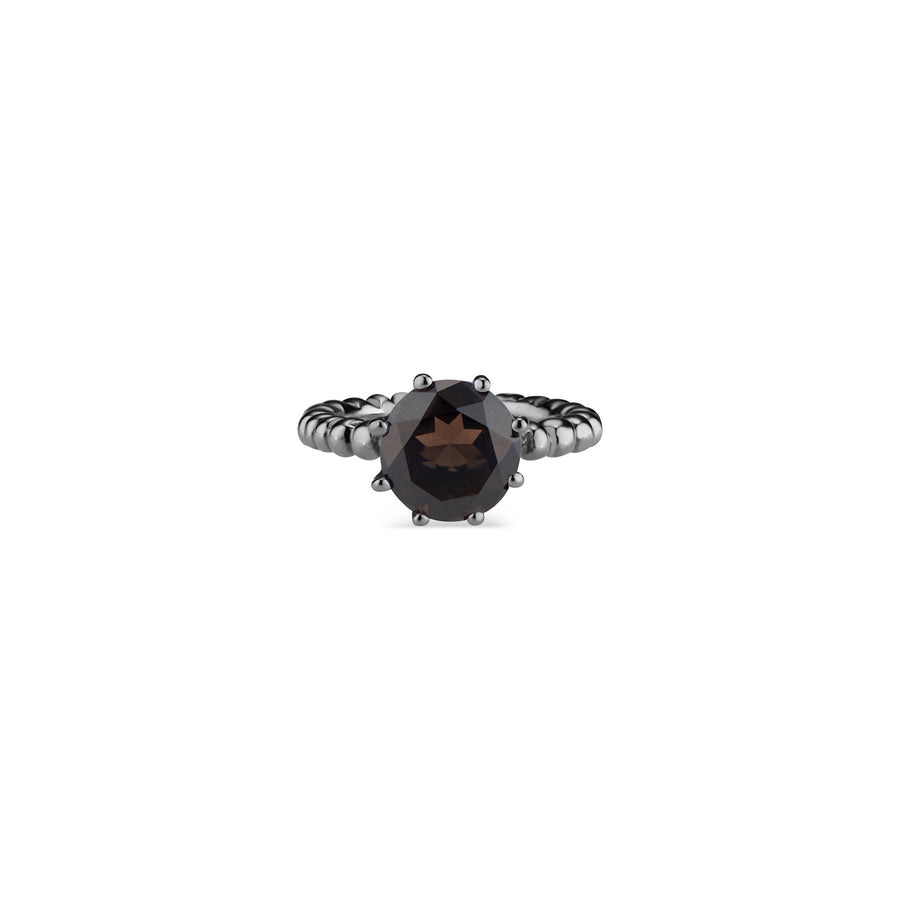 Smoky Quartz Crown Ring