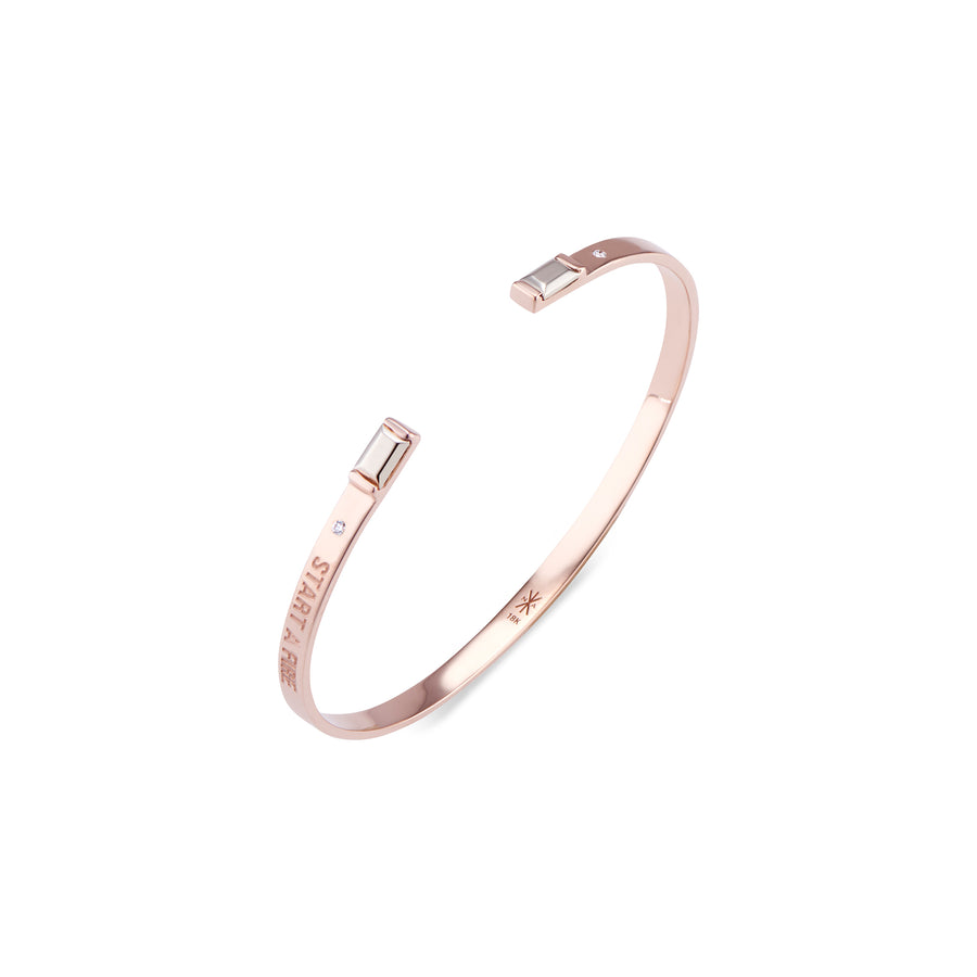 Start A Fire Rose Gold Engraved Bracelet