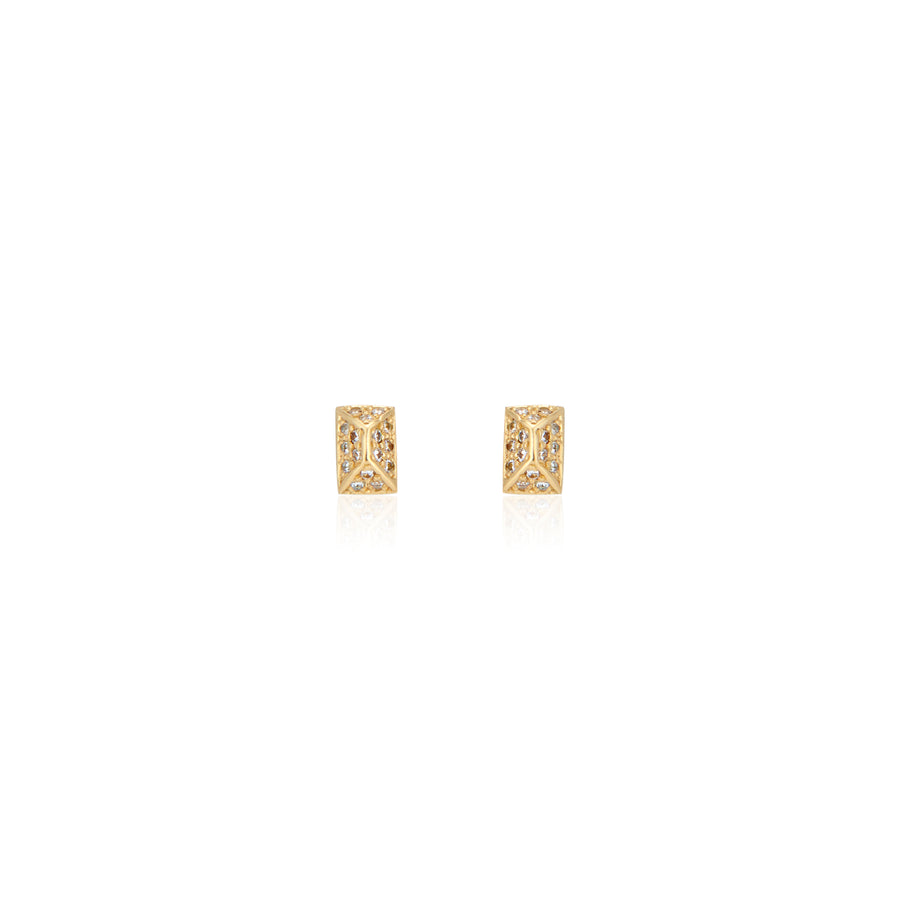 Spark Studs with Diamonds