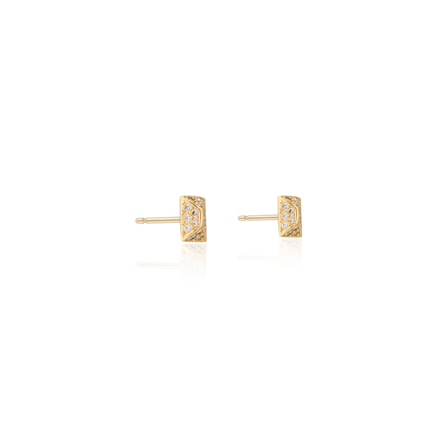 Mini Spark Studs with Diamonds