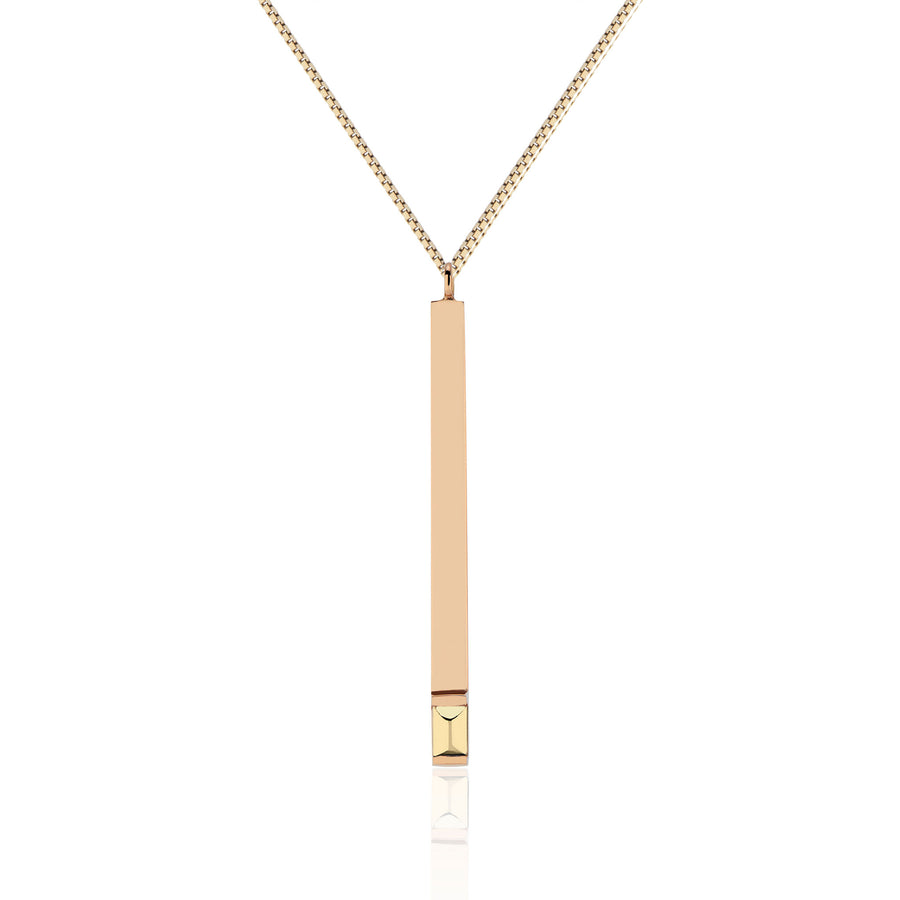 Spark The Fire Matchstick Pendant (Rose Gold)