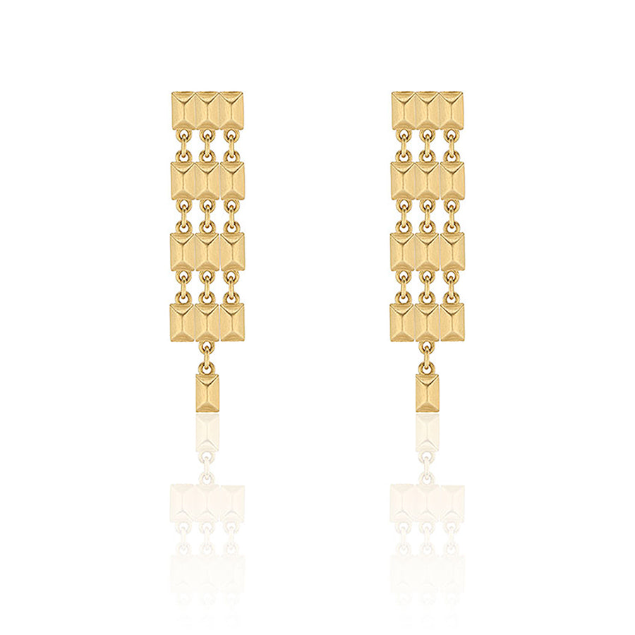 Gold Sparks Fly Chandelier Earrings
