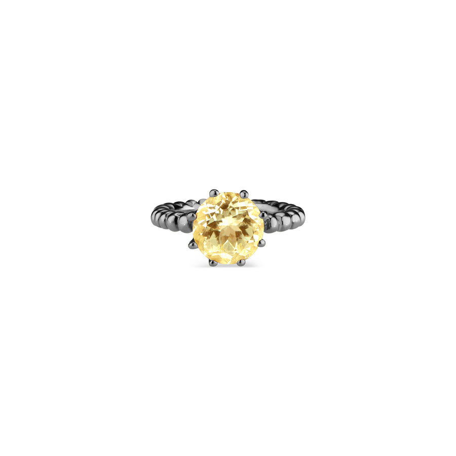 Yellow Beryl Crown Ring