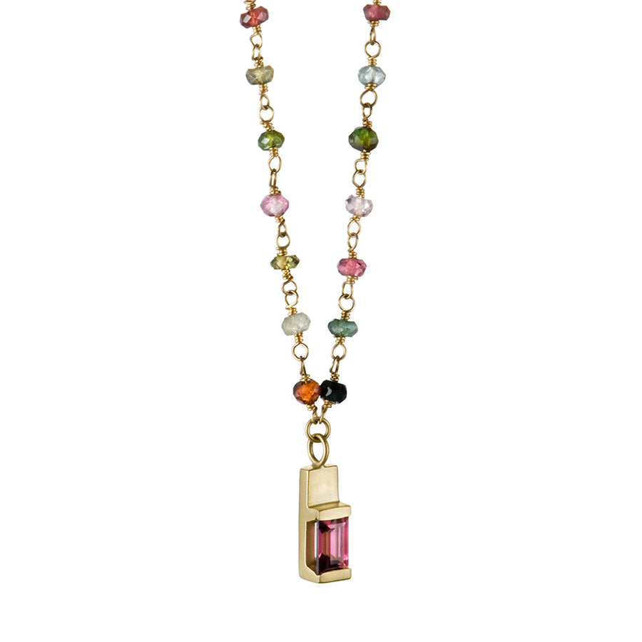 Beaded Tourmaline Spark Pendant