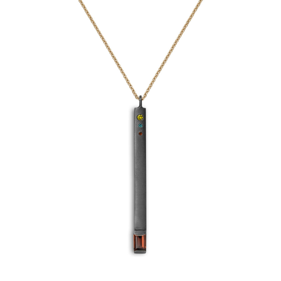 The Color of Fire Matchstick Pendant