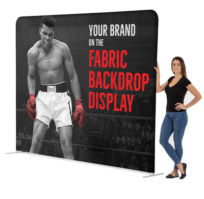 8' Straight Tension Fabric Display