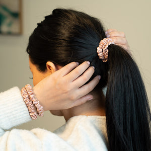 Blissy Skinny Scrunchies - Rose Gold