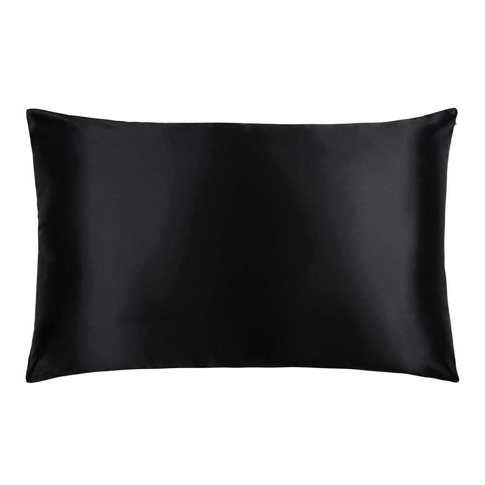 Blissy 100 Mulberry 22 Momme Silk Pillowcase Black Queen