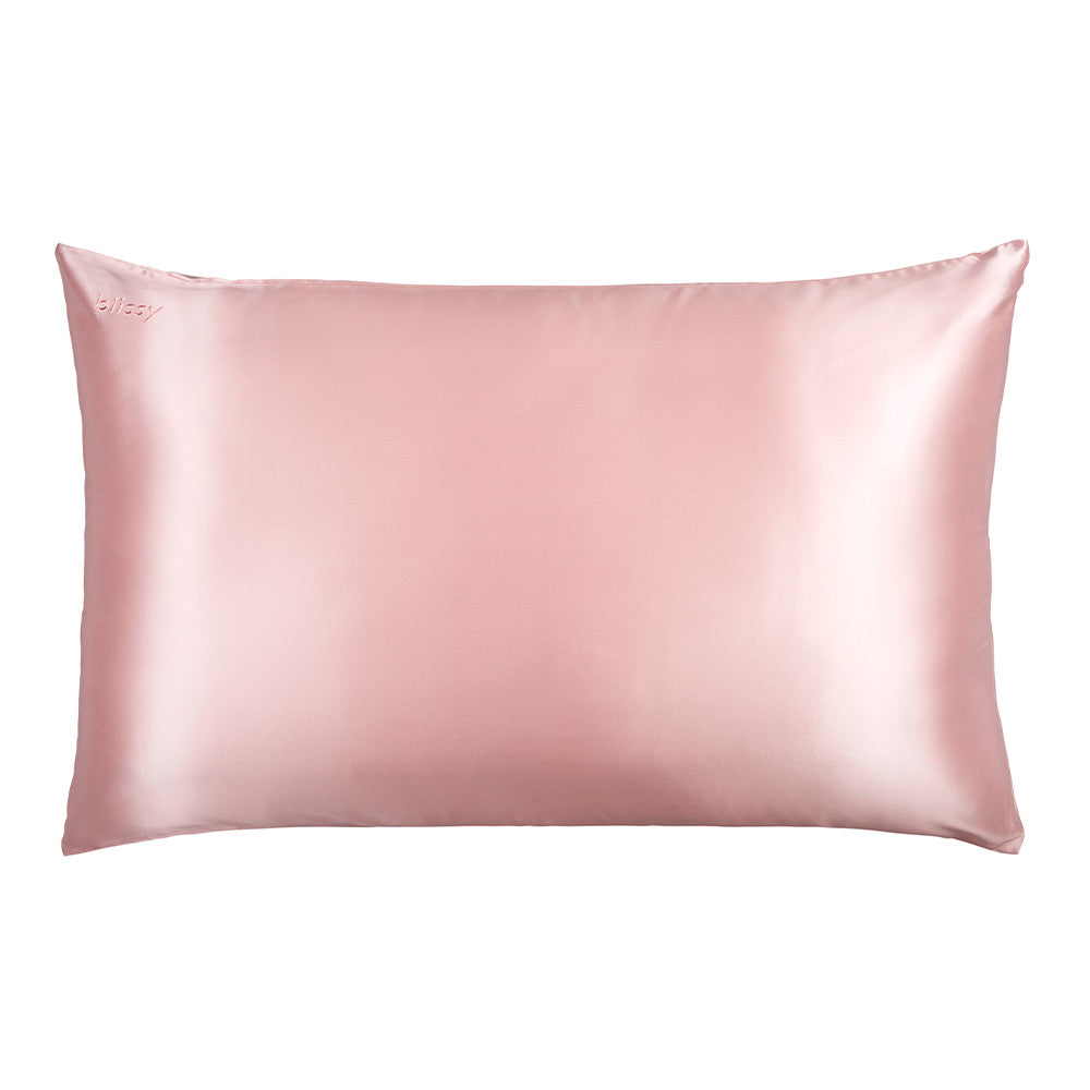 Blissy 100 Mulberry 22 Momme Silk Pillowcase Pink Queen