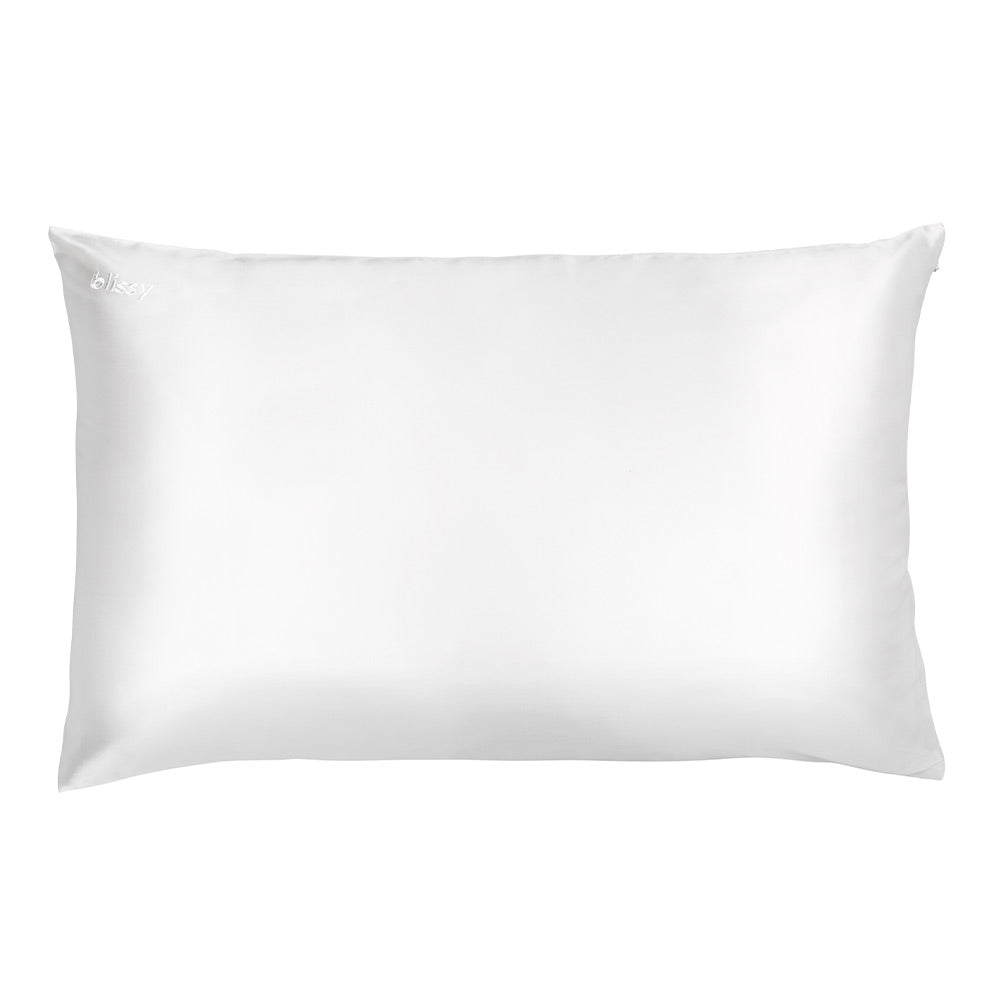 Blissy 100 Mulberry 22 Momme Silk Pillowcase White Queen