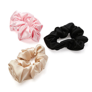 Blissy Scrunchies - Black, Gold, Pink