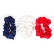 Load image into Gallery viewer, Blissy Scrunchies - Red, White, Blue