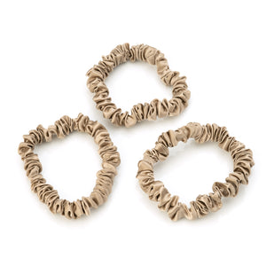 Blissy Skinny Scrunchies - Taupe
