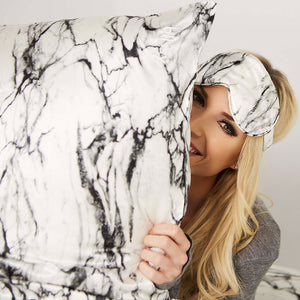 Sleep Mask - Light Marble
