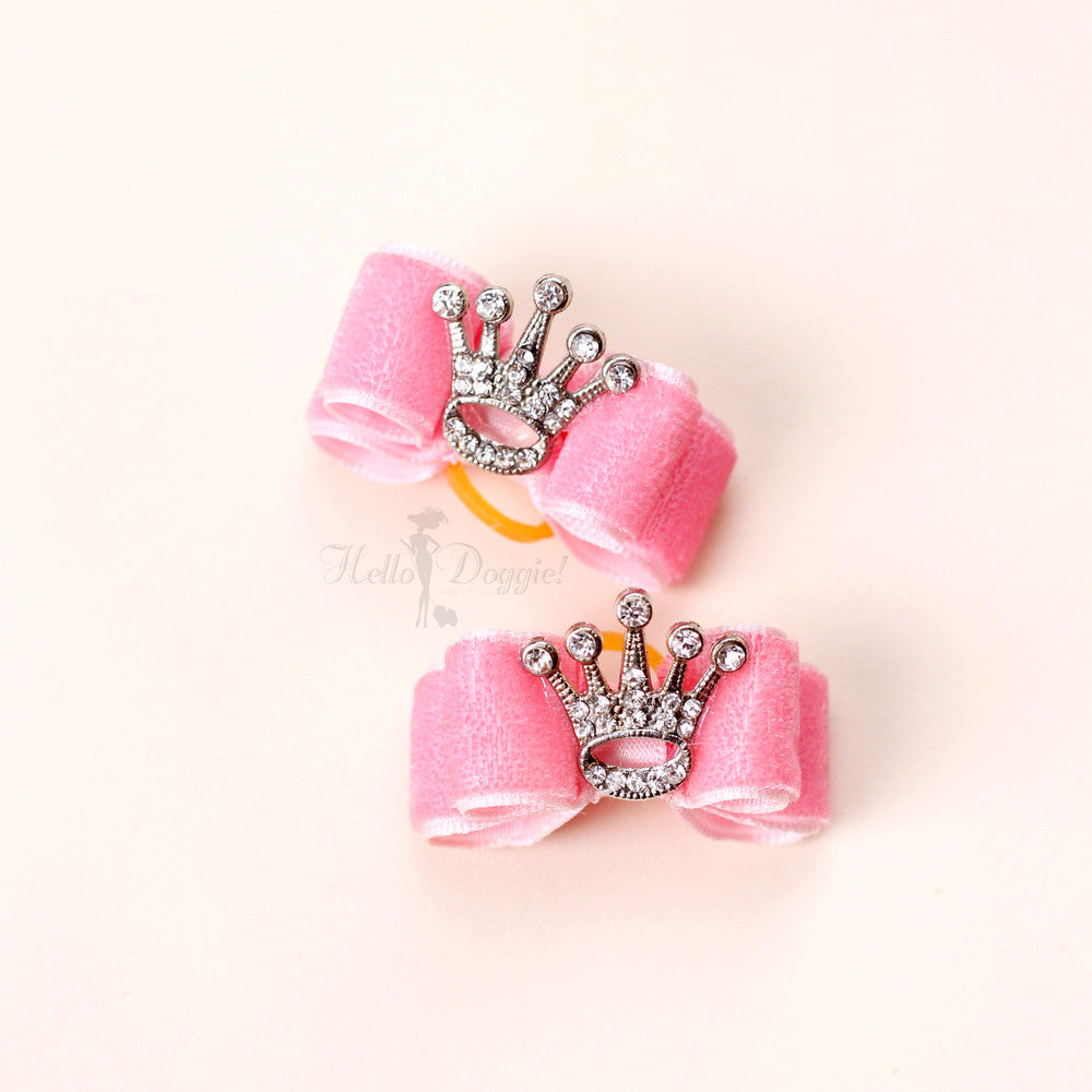 Crystal Crown Bow - Luxurious Paws
