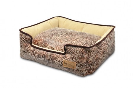 Savannah Sepia/Espresso Orthopedic Lounge Bed For Dogs