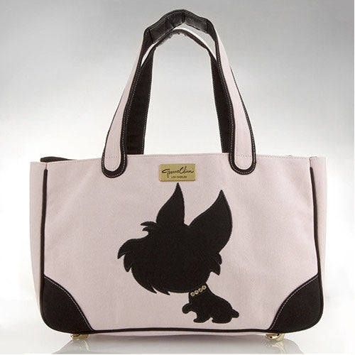I Love New Yorkie Canvas Rescue Me Tote Pink - Luxurious Paws