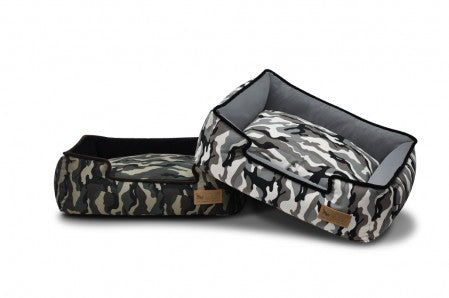 Camouflage Lounge Bed - Luxurious Paws