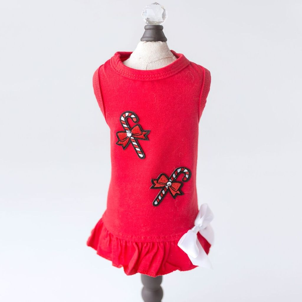 Candy Cane Dress - Luxurious Paws