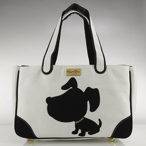 Doggie Style Canvas Rescue Me tote White