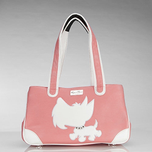 Snotty Scottie Rescue Me Tote Pink - Luxurious Paws